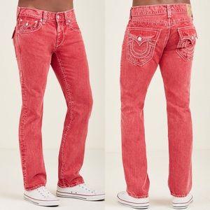 True Religion Straight Flap Mega T Stitch Jeans